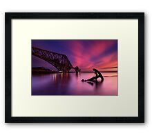 Forth Rail Bridge Sunset Framed Print