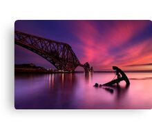 Forth Rail Bridge Sunset Canvas Print