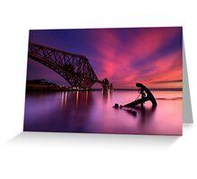 Forth Rail Bridge Sunset Greeting Card