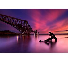 Forth Rail Bridge Sunset Photographic Print