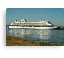 The Millenium Cruiseship - Newcastle Harbour NSW Australia Canvas Print