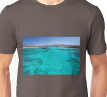 Blue lagoon in Antiparos islands, Greece Unisex T-Shirt