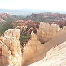 White Sandstone and Orange Rock Formations in Bryce Canyon, Utah. U.S.A. by Mywildscapepics