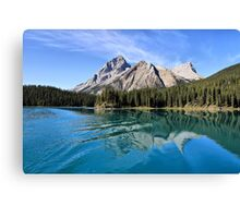 Broken Reflection on Maligne Lake Canvas Print