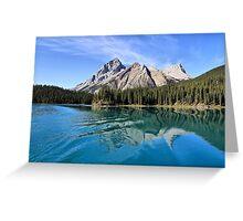Broken Reflection on Maligne Lake Greeting Card