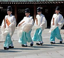 Shinto Wedding Procession by phil decocco