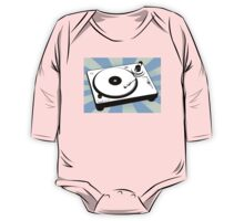 Retro Record Player by Chillee Wilson One Piece - Long Sleeve