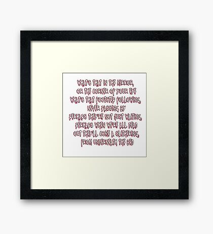what's that in the mirror.. Framed Print