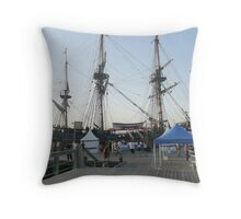 The 'ENDEAVOUR' Tall Ship Replica. Throw Pillow
