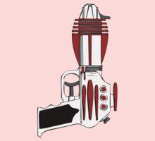 Retro Space Ray Gun by Chillee Wilson Kids Tee