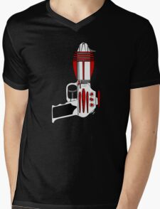 Retro Space Ray Gun by Chillee Wilson Mens V-Neck T-Shirt