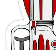 Retro Space Ray Gun by Chillee Wilson Sticker