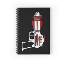 Retro Space Ray Gun by Chillee Wilson Spiral Notebook