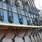 Rigging on the 'Endeavour' Tall Ship Replica. by Mywildscapepics