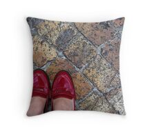 Shiny and red Throw Pillow
