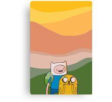 Adventure Time Sunset Canvas Print