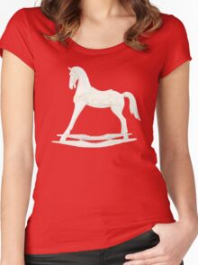 rocking horse Women's Fitted Scoop T-Shirt