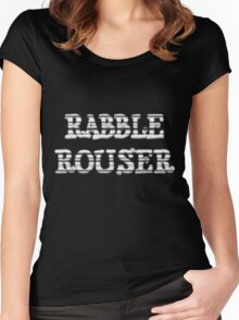 RABBLE ROUSER by Chillee Wilson Women's Fitted Scoop T-Shirt