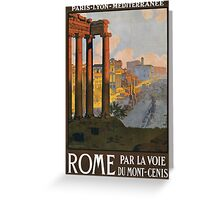 Rome Vintage Travel Poster Restored Greeting Card
