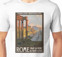 Rome Vintage Travel Poster Restored Unisex T-Shirt