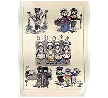 The Little Folks Painting book by George Weatherly and Kate Greenaway 0045 Poster