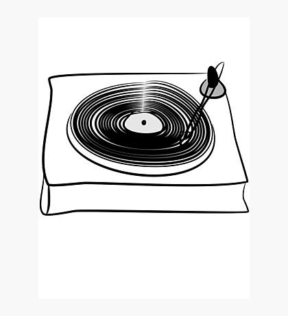 Retro Record Player by Chillee Wilson Photographic Print