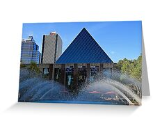 Edmonton City Hall and fountains  Greeting Card