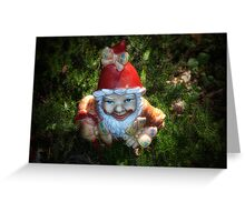 One of these creepy looking garden gnomes Greeting Card