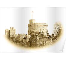 Windsor Castle in Sepia Poster