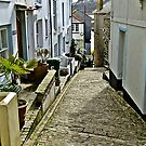"""The steep and narrow streets of St Ives"" by Malcolm Chant"