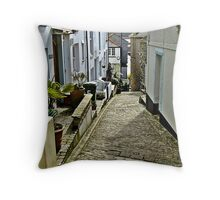 """""""The steep and narrow streets of St Ives"""" Throw Pillow"""