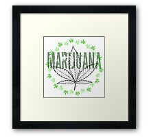 X-Rays. Cannabis Leaf and word Marijuana Framed Print