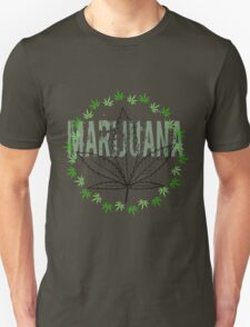 X-Rays. Cannabis Leaf and word Marijuana T-Shirt
