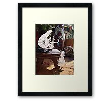 Alice and the Caterpillar Framed Print
