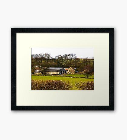 Yorks Moors Barn Framed Print