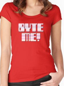 BYTE ME! by Chillee Wilson Women's Fitted Scoop T-Shirt