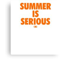 Summer IS Serious | Orange Canvas Print