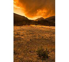 Sunset In Horseshoe Park Photographic Print