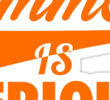 Summer IS Serious Script | Orange Sticker
