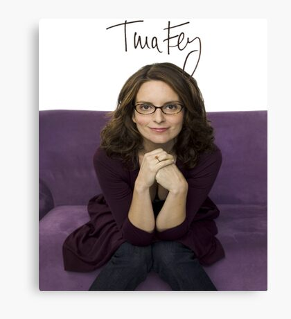 Tina Fey photo + Signature Canvas Print