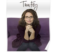 Tina Fey photo + Signature Poster