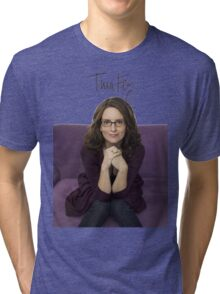 Tina Fey photo + Signature Tri-blend T-Shirt