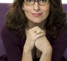 Tina Fey photo + Signature Sticker