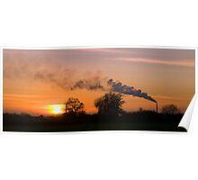 Westbury Chimney stack at Sunset Poster