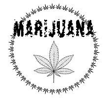 X-Rays. Cannabis Leaf and word Marijuana Photographic Print