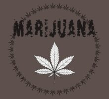X-Rays. Cannabis Leaf and word Marijuana T-Shirt