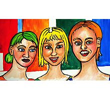 3 Strange Girls  Photographic Print