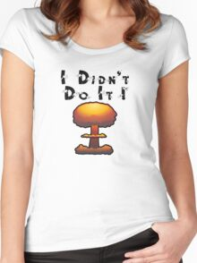 I DIDN'T DO IT by Chillee Wilson Women's Fitted Scoop T-Shirt