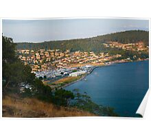 Anacortes Island Marina on Burrows Bay, Washington Poster