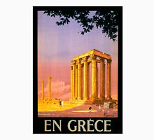 Greece Vintage Travel Poster Restored Unisex T-Shirt